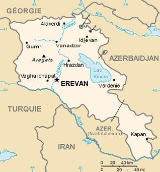Carte de la république d'Arménie