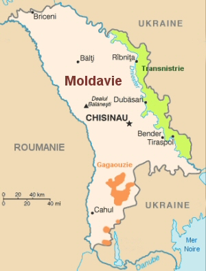 Carte de la république de Moldavie