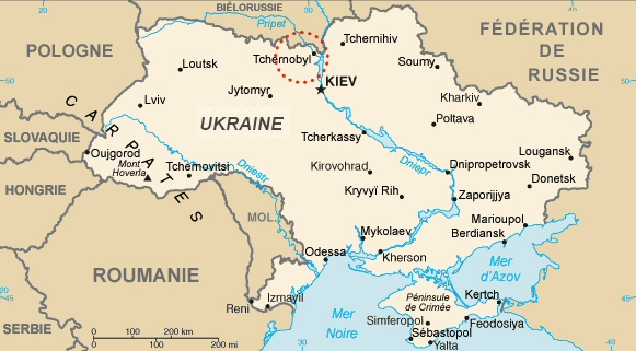 Carte de la république d'Ukraine