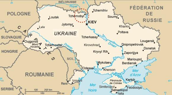 Carte de la république d'Ukraine